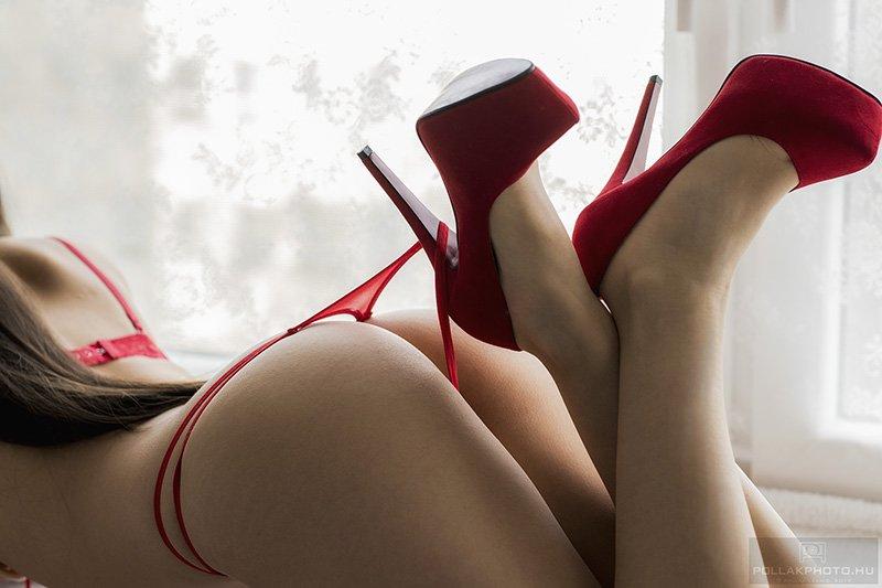 glamour pirosban