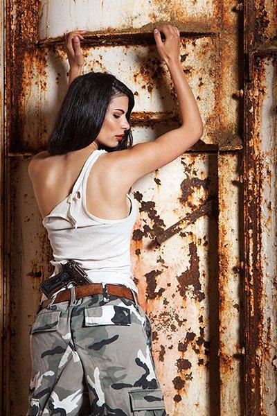 katonás modell fotózás