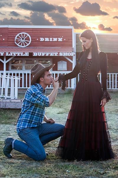 Portfólió fotózás westernes