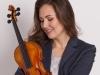 női portfóliófotózás hegedűvel